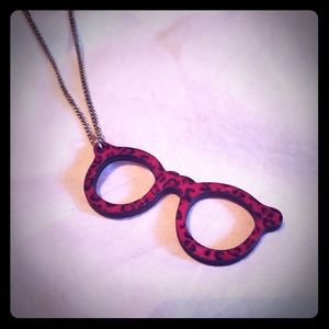Pink Cheetah Eyewear Necklace